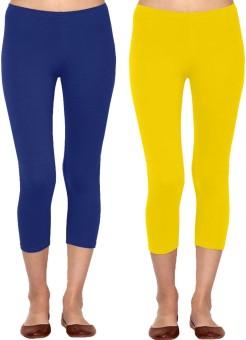 Linking Threads Vetha Women's Blue, Yellow Capri