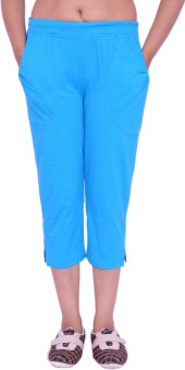 Unimax Blue Women's Capri