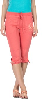 Lovable Marquise Coral Pink Women's Capri