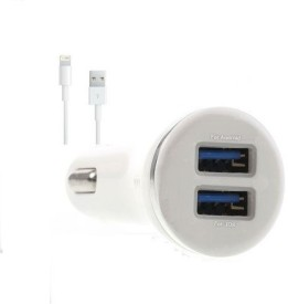 Edge Plus 2.1A Dual USB Port Car Charger (With Iphone 5 Data Cable)