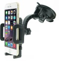 Sga Products Car Phone Holder For Hands Free Driving. Windshield Mount Universal Mobile Phone Holder With Snap-In One Touch Feature Works With (Black)
