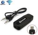 3Keys V2.1+EDR Car Bluetooth Device With Audio Receiver, USB Cable (Black, White)