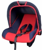Babyland Baby Canopied Carry Cot Cum Carseat (Dark Blue, Red)
