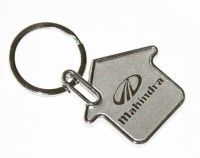 24X7SHOP Mahindra Full Metal House Shape Key Chain (Multicolor)