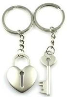 Anishop Lock Key Heavy Keychain (Silver)