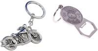 Chainz Metal Bike Keychain And Bottle Opener (Silver)