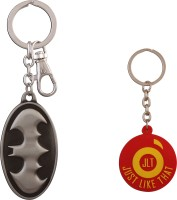 JLT Batman Metal Oval Premium Locking Key Chain (Multicolor)