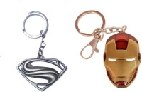 Chainz Metal Superman 2014 And Iron Man Keychain (Multicolor)