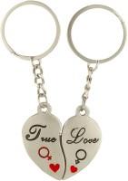 CTW Love You Heart Shape Metal Keychain (Silver)