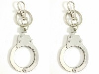 Singh Xpress Combo Of 2 Dabang Mini Hand Cuff- Key Chain - For Car And Bike - Premium Quality - Tinker AccessoriesStainless SteelStandard- Pocket Size Challa With Locking Holder Locking Carabiner (Silver)