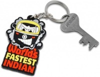 Happily Unmarried World's Fastest Indian Locking Key Chain (Multicolor)
