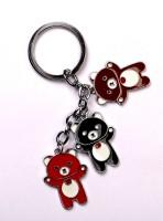 JDK Small Cute Taddy 3x Design Key Chain (Multicolor)