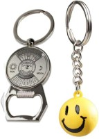 Chainz Calendar Bottle Opener And Smiley Ball Keychain (Multicolor)