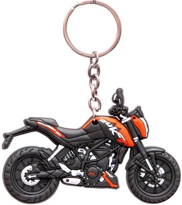 Confident Top Speed Ktm Duke Bike Keychain (Multi)