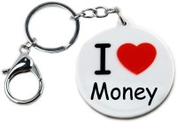 CTW I Love Money For Bike And Car Locking Keychain (White)