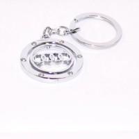 Aura Imported Audi Revolving Full Metal Key Chain Key Chain (silver)