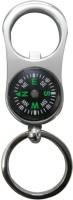 Confident Metalic Finish Locking Locking Keychain (Silver)