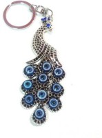 VASTUGHAR BEAUTIFUL METAL PEACOCK EVIL EYE KEY RING CHAIN Key Chain (BLUE)