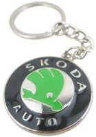 Prime Traders Skoda Emblem Car Logo Locking Key Chain (Black)