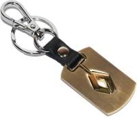 Aura Renault Cars Detachable Logi Full Metal Imported Locking Keychain (Gold)