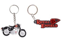 Chainz Royal Enfield Bike Shape And Embossed (Multicolor)