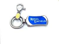 Ezone Imported Metal Royal Enfield Locking Key Chain (Blue)