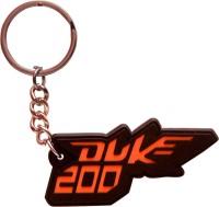 Spotdeal SDL78 KTM Duke 200 Rubber Key Chain (Multicolor)