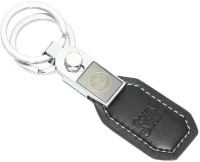 AURA Royal Enfield Dual Logo Key Chain (Black, Silver)