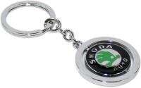 Aura Imported Revolving Skoda Full Metal Key Chain (Silver)