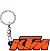Ezone Bazar Ktm Bike Rubber Key Chain (Orange)