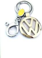 Ezone Imported Metal Volkswagen Locking Key Chain (Silver)