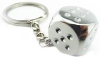 True Traders True Traders Silver Metal Dice Keychain Key Chain (silver)
