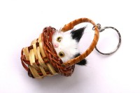 JDK Cute Cat Design-3 Key Chain (Multicolor)