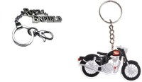Chainz Royal Enfield Hook And Silicon Bike Keychains (Multicolor)