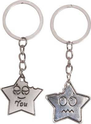 Anishop Star Shape Couple Keychain