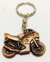 Hiyaa Stylish Sports Bike Metal Key Chain - Orange