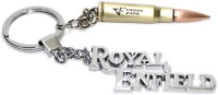 Aura Imported Big Royal Enfield With Big Bullet Macho Key Chain (Silver, Brown)