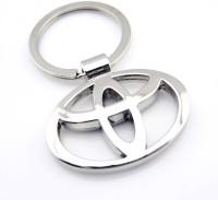 Easy4buy Toyata Car,Bike,Bag Locking Spring Gate Key Chain (Silver)