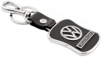 Chainz Volkswagen Leather Metal Locking Keychain (Black)