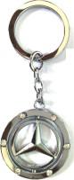 Ezone Full Metal Dimond Mercedes Bens Key Chain (Silver)