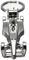 Aura Full Metal Ferrari Car Shaped Key Chain (Silver)