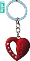 Lebho Heart Shaped Key Chain (Red)