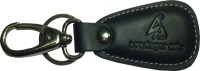 Sondagar Arts Genuine Leather Metal Iocking Mens Key Chain (Black)