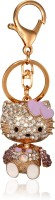 Koles Cute Kitty Purple Locking Key Chain (Purple)