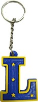 DCS Rubber Alphabetic Letter Key Chain Locking (Blue)