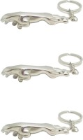 Confident Set Of 3 Jaguar Metalic Keychain (Silver)