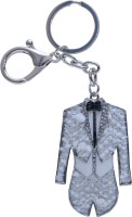 Dealfinity Studded Groom White Suit Metal DKYCN1571 Locking Key Chain (Multicolor)