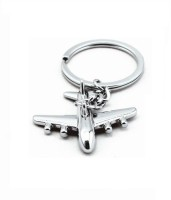 Mooz Aeroplane Full Metal Key Chain (Silver)