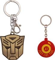 JLT Transformers Golden Metal Premium Locking Curved Gate Key Chain (Multicolor)
