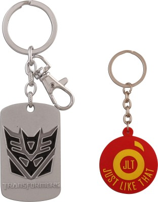 JLT Transformers Metal Premium Silver Locking Key Chain (Multicolor)